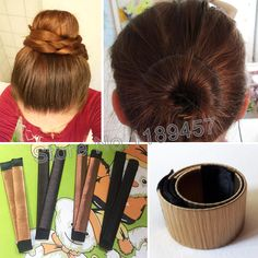 Hair Accessories Synthetic Wig Donuts Bud Head Band Ball French Twist Magic DIY Tool Bun Maker Sweet French Dish Made Hair Band – Women Shoping