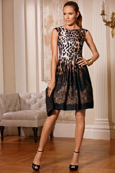 Love everything I've ever purchased from Boston Proper Animal Lace Ombre Dress #BostonProper #falldresses