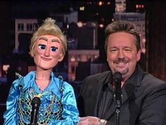 Ventriloquist Terry Fator - David Letterman The puppets sing better than Terry.oh wait, he is the voice of the puppets! Comedy Clips, Louis Armstrong, Puppets, Wonders Of The World, Red Roses, The Darkest, The Voice, David, Music