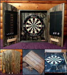 Hit the Bullseye with this DIY Dartboard Cabinet made from Recycled Pallets