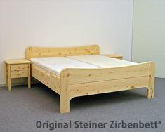 Massivholzbett  Zirbenbett, Massivholzbett, Modell Kranzhorn mit Kommode, Steiner ...