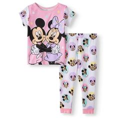 New Disney Lady and the Tramp baby toddler girls pajamas 9m 12m 18m 24m
