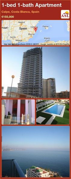 Apartment for Sale in Calpe, Costa Blanca, Spain with 1 bedroom, 1 bathroom - A Spanish Life Line Branding, Murcia, Apartments For Sale, Seville, New Builds, Two Bedroom, Malaga, The Locals, Costa