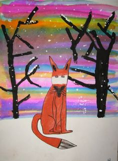 My two Winter Holiday Art Fun classes revisited a couple favorite lessons with these tint and shade rabbits and foxes with watercolor s...