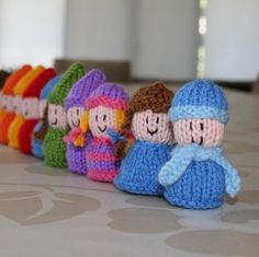 Peanut Pals - gnomes, elves, pixies and people - INSTANT DOWNLOAD PDF Knitting Pattern