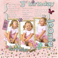 Happy Birthday Leonie, layout by Marlen