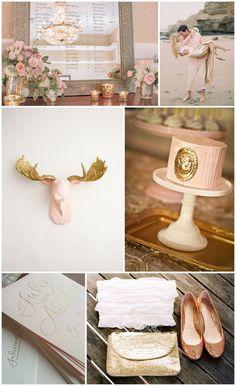 blush and gold wedding ideas