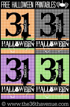 Halloween Free Printables! Pin it now and print them later... Eek!