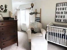 Rustic farmhouse nursery Rustic Baby Nurseries, Nursery Neutral, Future Baby, Rustic Farmhouse, Nursery Decor, Cribs, Bed, Furniture, Awesome