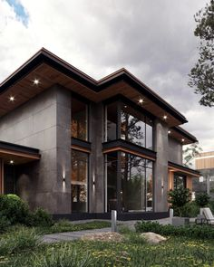 Modern Exterior House Designs, Modern Villa Design, Dream House Exterior, Dream House Plans, Modern Contemporary Homes, Exterior Design, Modern Home Exteriors, Modern House Facades, Bungalow House Design