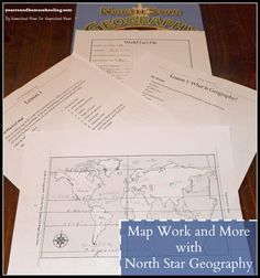 Map Work and More with North Star Geography - http://www.yearroundhomeschooling.com/map-work-north-star-geography/