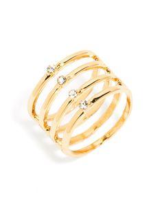 Crystal Cage Ring | BaubleBar