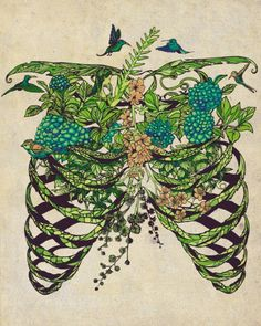 Someplace Beautiful Art Print by Huebucket Art And Illustration, Anatomy Art, Art Plastique, Oeuvre D'art, Art Inspo, Vintage Art, Cool Art, Art Photography, Artsy