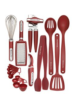 Kitchenaid 17-Piece Gadget Set - red