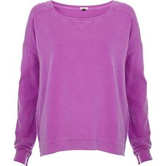 Purple dip hem sweatshirt - sweaters / hoodies - t shirts / tanks / sweats - women