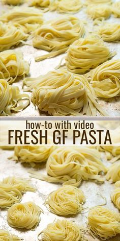 Making fresh pasta at home is a labor of love. It's a simple process. All it takes is the right gluten free pasta recipe, and a little time. Find out how! Gluten Free Pasta Recipe: great gluten free recipes that actually work Nicole Cervone qui Lasagne Sans Gluten, Pizza Sin Gluten, Gf Recipes, Gluten Free Recipes, Chicken Recipes, Sausage Recipes, Mexican Recipes, Family Recipes, Recipes Dinner