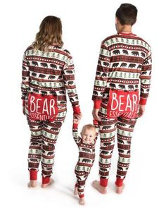 Black Bear and Buffalo Plaid Bear Bum Family Matching Onesies Longjohns Union Suits By Hatley - Family Matching Christmas Pj's - Christmas Pajamas - Long John PJS - Family Matching Pajamas -Flap Jacks Matching Family Christmas Pjs, Family Christmas Pajamas, Matching Family Pajamas, Matching Family Outfits, Xmas Pjs, 1st Christmas, Christmas Decor, Christmas Ideas, Printed Jumpsuit