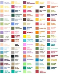 Stampin' Up Color Chart