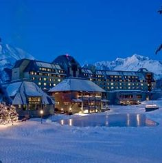 Hotel Alyeska, 304-room hotel 40 miles south of Anchorage in a valley below a ski mountain