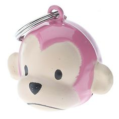 Rosa Monkey Style Krage Bell för Hundar Katter – USD $ 2.39