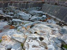 Visit the spectacular Ancient Glacial Potholes in Shelburne Falls, Massachusetts http://visitingnewengland.com/blog-cheap-travel/?p=253