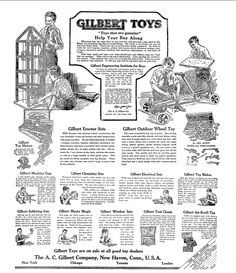 "Christmas toys advertisement, published in the Philadelphia Inquirer newspaper (Philadelphia, Pennsylvania), 14 December 1919. Read more on the GenealogyBank blog: ""Christmas Toys & Gifts from Yesteryear in Old Newspaper Ads."" http://blog.genealogybank.com/christmas-toys-gifts-from-yesteryear-in-old-newspaper-ads.html"
