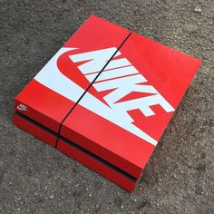 A sneaker customizer created Playstation 4 skins that look just like popular sneaker boxes.