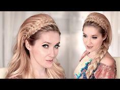 ▶ 4 Braided headband hairstyles with big teased hair tutorial ❤ 60s look - YouTube