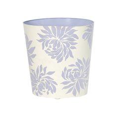 Worlds Away Oval Wastebasket Lavender Floral