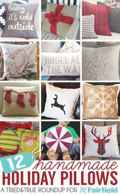 12 Handmade Holiday Pillows: 12 great projects to decorate your home with this Christmas!