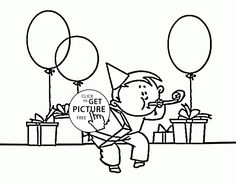 Funny Card Happy Birthday Dad coloring page for kids holiday