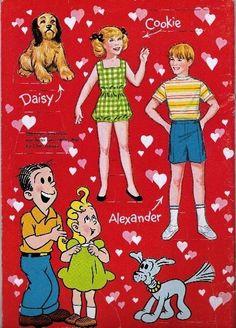 Blondie TV Paper Dolls