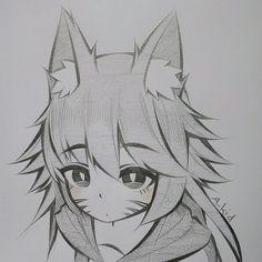 Manga Drawing Tutorials, Anime Drawings Sketches, Cool Art Drawings, Anime Sketch, Kawaii Drawings, Anime Character Drawing, Character Art, Character Design, Manga Art