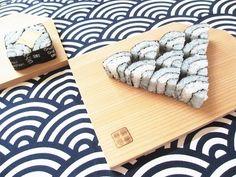 【創作試作柄】日本の伝統模様「青海波」の飾り巻き寿司|「スシ巻きねェ♪」