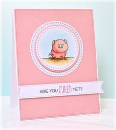Are You Cured Yet? Get Well card for a good-humored friend! #MFTStamps, #CopicMarkers