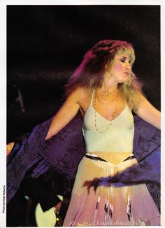 beautiful Stevie onstage  ~ ☆♥❤♥☆ ~  twirling her Blue Lamp shawl