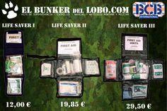 Hola Amig@s. En Elbunkerdellobo.com teneis disponibles los Botiquines de la serie Life Saver del fabricante Bcb International.  Como siempre al mejor precio.