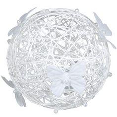 Boule blanche à suspendre