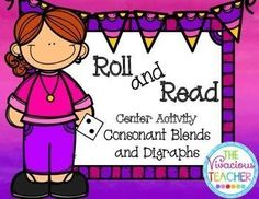 Roll and Read Consonant Blends and Digraphs Center Activity Bundle Pack ~ This fun activity contains 24 game boards perfect for centers! ~ The Vivacious Teacher
