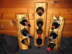 Custom Made Log Wine Rack by Against The Grain Woodworking & Design LLC.