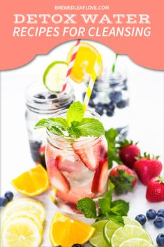 Drinking detox water or infused water is a delicious way to get more water in your day. When made with healthy ingredients can help you lose weight and detox your body. Weight Loss Drinks, Weight Loss Smoothies, Best Weight Loss, Energy Smoothies, Keto, Water Recipes, Easy Recipes, Smoothie Recipes, Smoothie Drinks