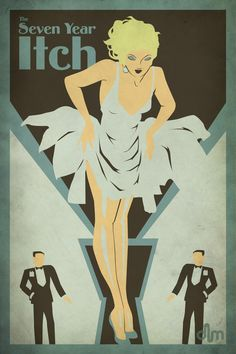The Seven Year Itch by ~Delaney-M on deviantART  | This image first pinned to Marilyn Monroe Art board, here: http://pinterest.com/fairbanksgrafix/marilyn-monroe-art/ || #Art #MarilynMonroe