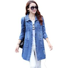 Women Spring Fashion Plus Size S-5XL Long Loose Cotton Denim Blouses Long Sleeve Shirts Tops Jeans Blouse Female Casual Clothing $49.99   #style #beauty #fashionista #sweet #pretty #ootd #cool #styles #instalike #model #glam #dress #stylish #instastyle #swag