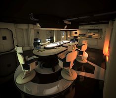 meeting room on the Enterprise