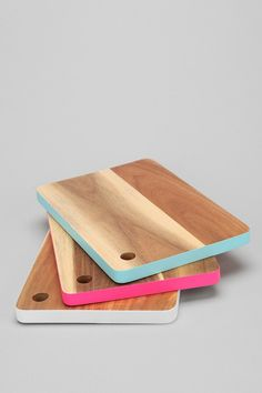 cutting boards with a pop of colour! such a great price - you can buy a few and make a set.
