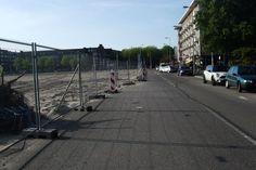 Zo was het nog op 22 Augustus 2013 Stadionplein hoek van Tuyll van  Serooskerkenweg  Amsterdam.  Vrij uitzicht nog. foto Irka Potsdammer