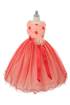 Stunning special occasion dress for your girl by Chic Baby! The sweet flower lace bodice gives it a vintage look but the beautiful sash and full length tulle skirt make it perfect for Christmas or any special occasion. Your sweet girl will look stunning w Little Girl Christmas Dresses, Holiday Dresses, Special Occasion Dresses, Coral Flower Girl Dresses, Tulle Flower Girl, Girls Formal Dresses, Chic Baby, Lace Bodice, Red Lace
