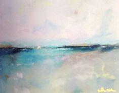 Turquoise Horizon Ocean 8 x 10 Giclee Print Matted by lindadonohue