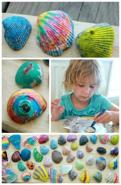 beach art - Take your shells home and have fun making this Melted Shell Crayon Art from Artful Parent. More beach hacks on Frugal Coupon Living