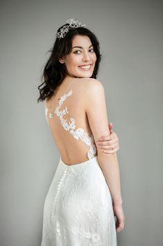 Brautkleid Adawa von Felicita, mit transparentem Rücken, Spitze-Tattoo, Wedding Dress with Lace-Tattoo, Lace Appliques